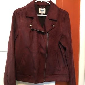 Old Navy Faux Suede Bomber Jacket